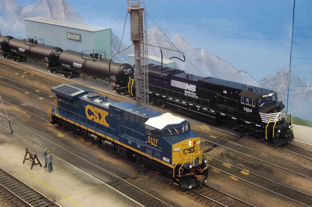 csx 5117 at sanding tower