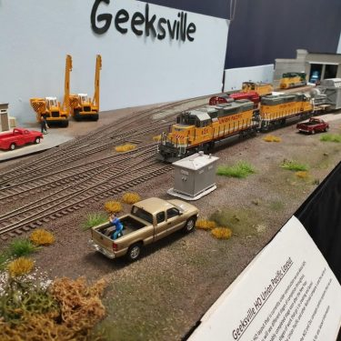 Geeksville yard tracks